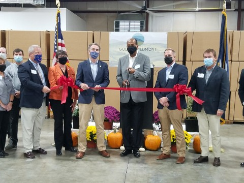 Governor celebrates large-scale hemp processing facility in South Boston — the first one of its kind in the state — starting operations